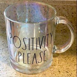 Rae Dunn Iridescent Positivity Please Mug